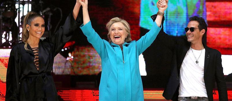 Jennifer Lopez: concerto a Miami per sostenere Hillary Clinton