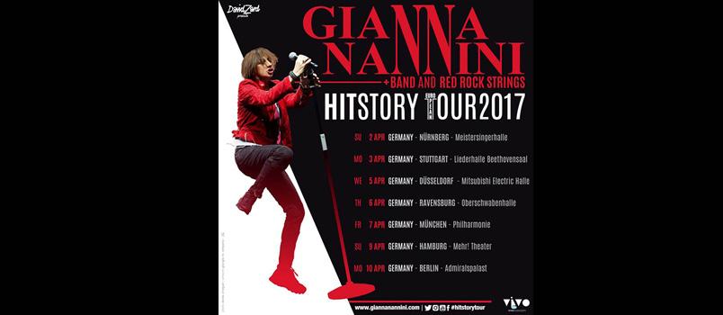 Gianna Nannini HITSTORY TOUR 2017: live in tutta Europa