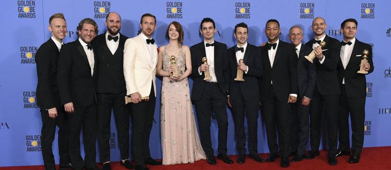 """La La Land"" di Damien Chazelle trionfa ai Golden Globe 2017"