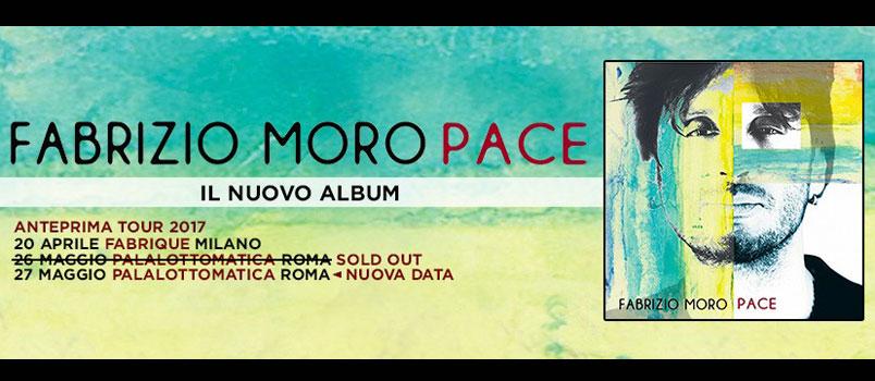 Fabrizio Moro: la data del 26 maggio al PalaLottomatica di Roma è sold out