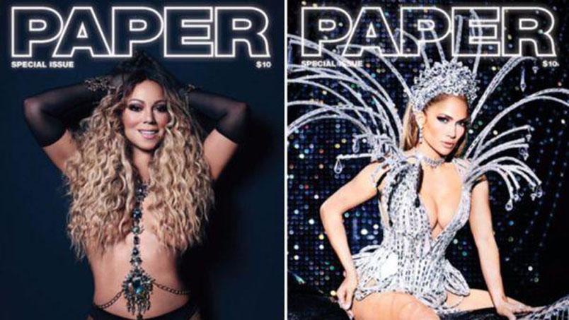 Mariah Carey e Jennifer Lopez sulla doppia copertina di Paper Magazine