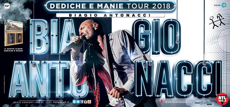 Biagio Antonacci Tour 2017-2018 nuove date