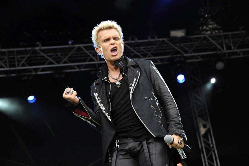 Billy Idol: cancellata data di Padova