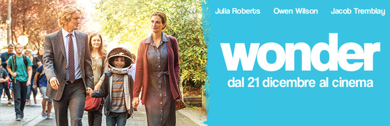 """""""Wonder"""" con Julia Roberts, al cinema dal 21 dicembre"""