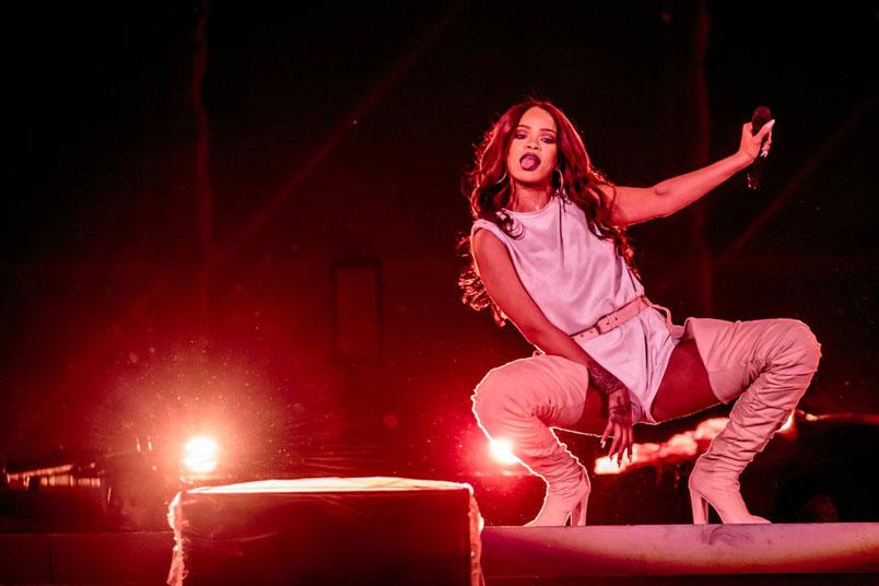 Rihanna: shopping di lusso a Milano