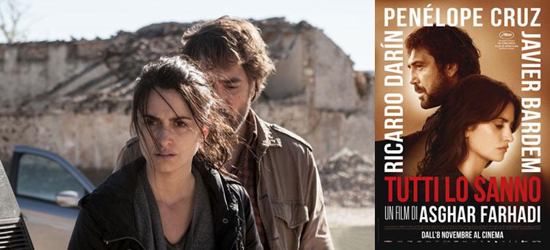 """Penélope Cruz e Javier Bardem di nuovo insieme al cinema con """"Tutti lo sanno"""""""