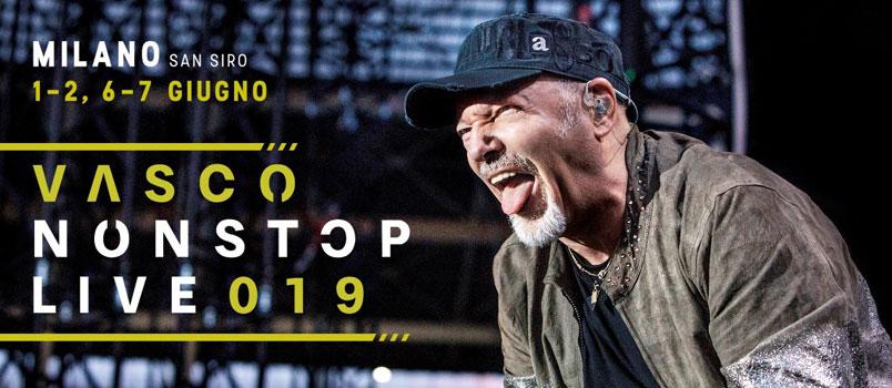 Vasco Non Stop Live 2019: secondo tempo a Milano e Cagliari
