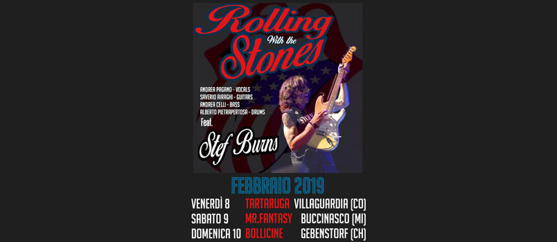 Rolling with the Stones feat. Stef Burns: il weekend rock parte venerdì 8 febbraio da Villaguardia