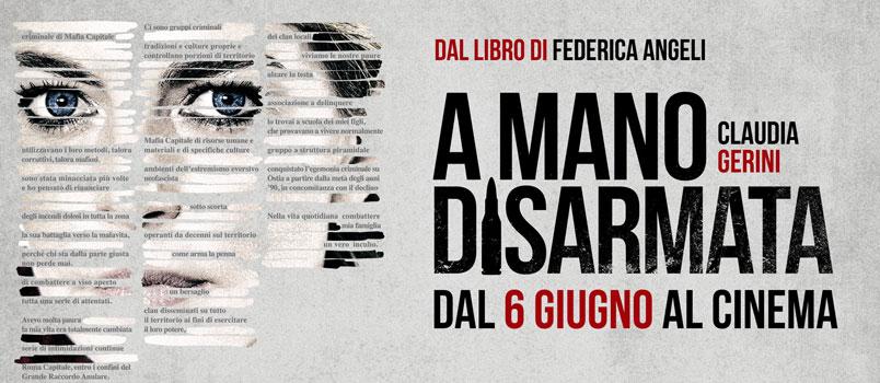 """""""A mano disarmata"""" con Claudia Gerini, al cinema dal 6 giugno"""