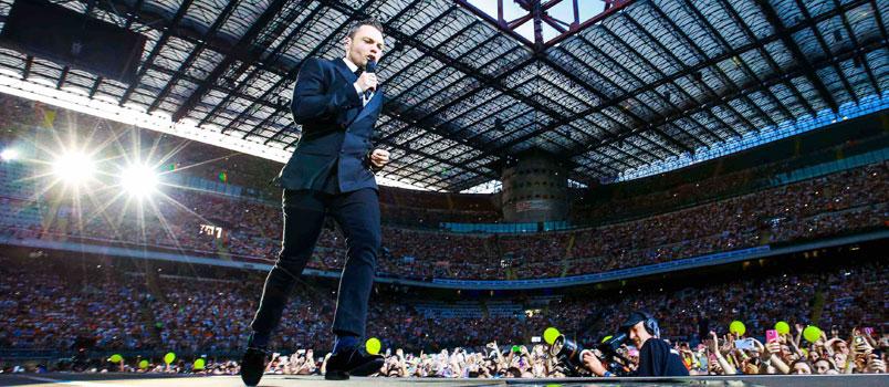 Tiziano Ferro: 75.000 biglietti venduti nelle prime 24 ore per il tour negli stadi