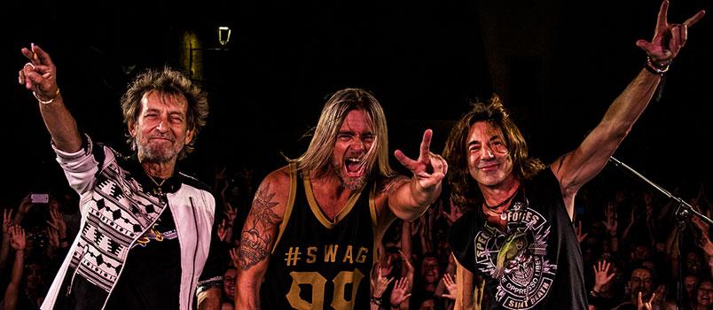 Il power trio con Stef Burns, Claudio Gallo Golinelli e Will Hunt torna ad animare l'estate rock italiana