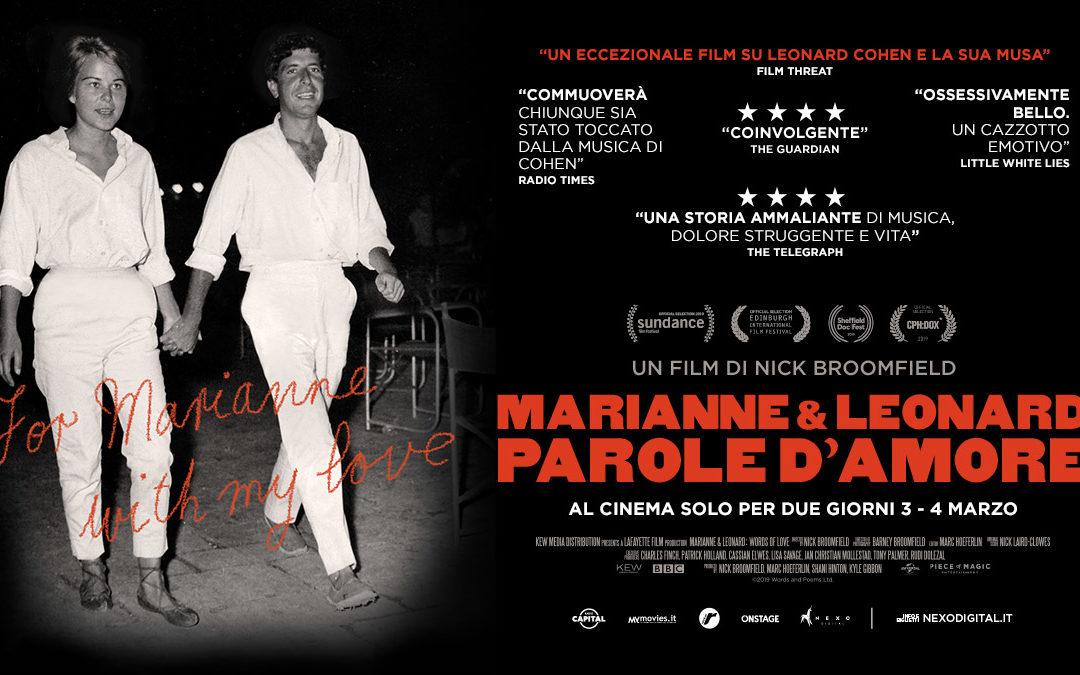 """""""Marianne & Leonard. Parole d'Amore"""" il film su Leonard Cohen"""