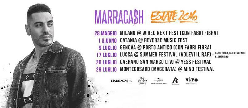 Marracash dal vivo questa estate nei principali festival italiani