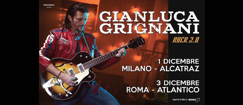 Gianluca Grignani: due unici live per festeggiare 20 anni di musica