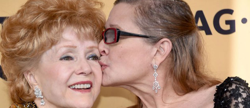 Addio a Debbie Reynolds, madre di Carrie Fisher