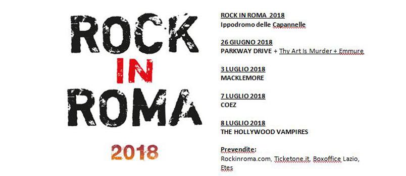 Rock in Roma 2018: ecco i primi artisti annunciati