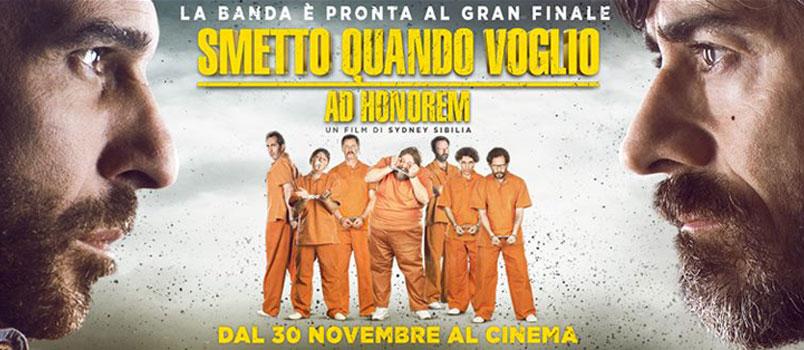 """""""Smetto quando voglio – Ad Honorem"""" di Sydney Sibilia, dal 30 novembre al cinema"""