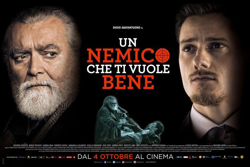 Un Nemico Che Ti Vuole Bene. Il poster ufficiale del film con Diego Abatantuono al cinema dal 4 ottobre