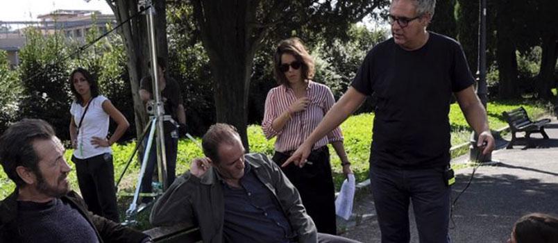 """Marco Giallini e Valerio Mastandrea sul set del nuovo film di Simone Spada: """"Domani è un altro giorno"""""""