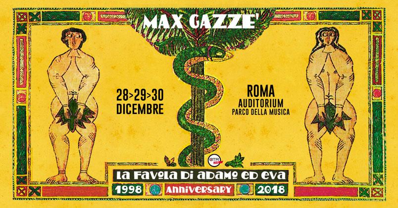 """Max Gazzè live a Roma per i 20 anni de """"La favola di Adamo ed Eva"""""""