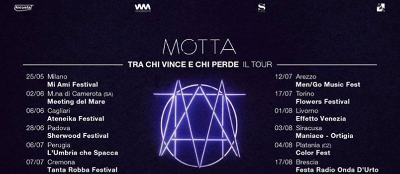 Motta: al via dal 25 maggio il tour