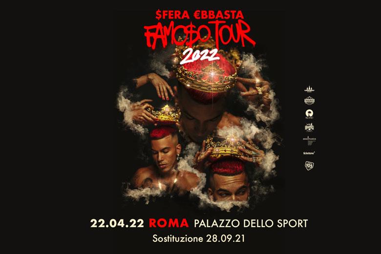 Sfera Ebbasta, nuova data a Roma: 22 aprile 2022 al Palazzo dello Sport